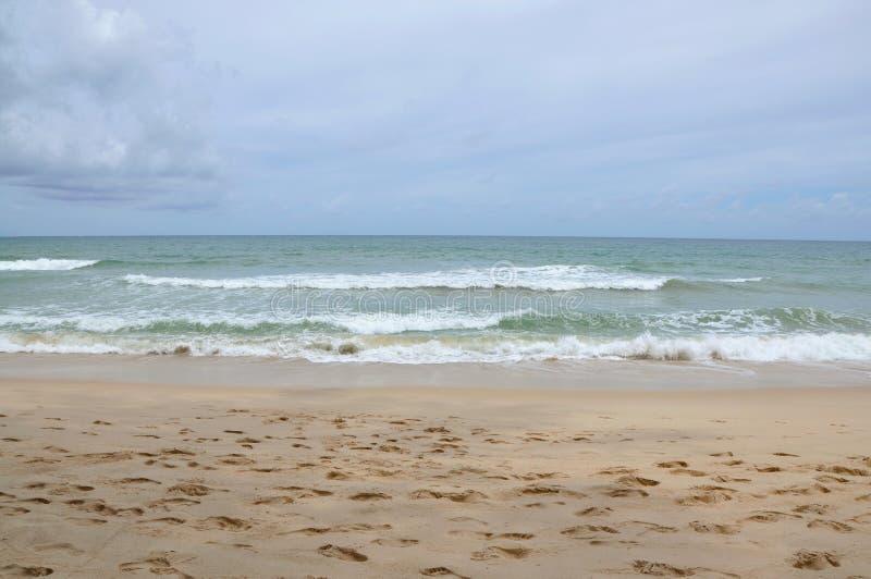 Morze fala na plaży fotografia stock