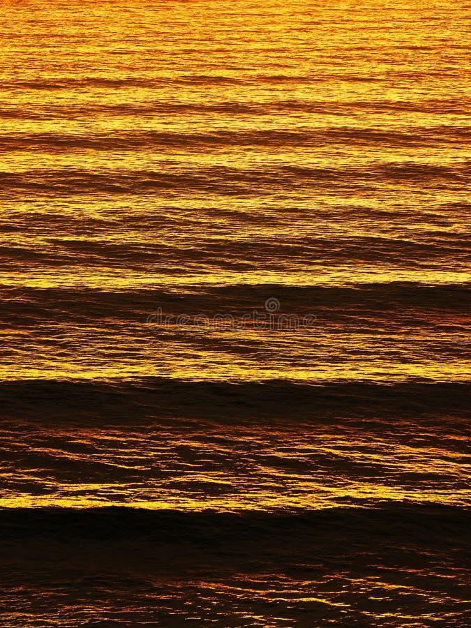 Morze fala pluskocze przy zmierzchem zdjęcie royalty free