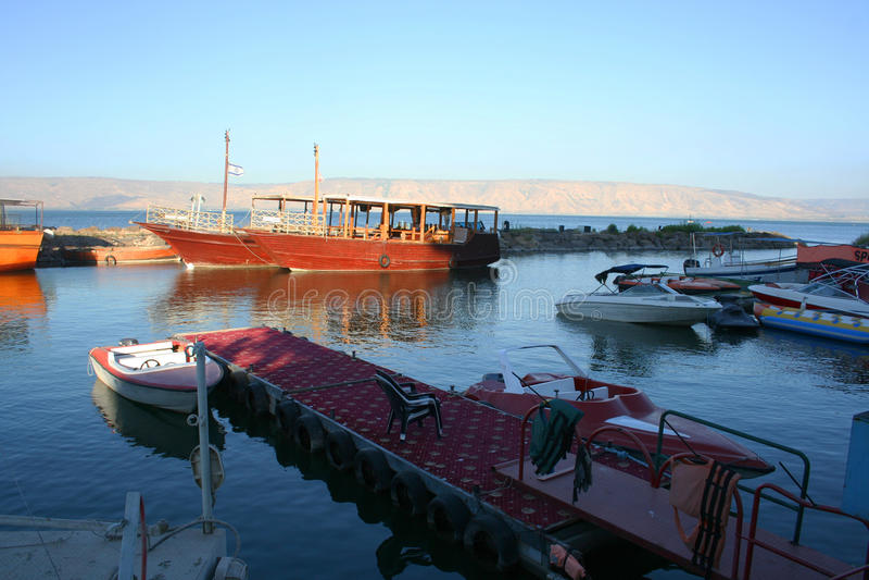 Morze Galilee, Izrael (Kineret jezioro) fotografia stock