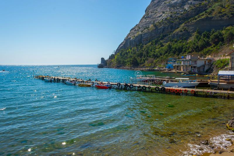 Morze i bulwar zdjęcia royalty free