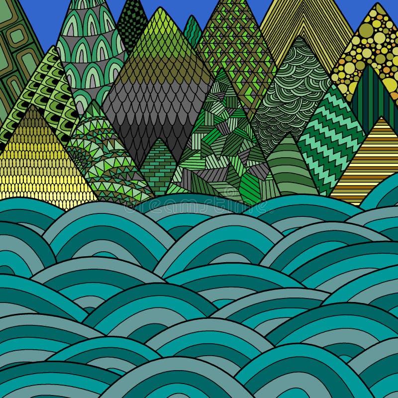 Morze i góry royalty ilustracja