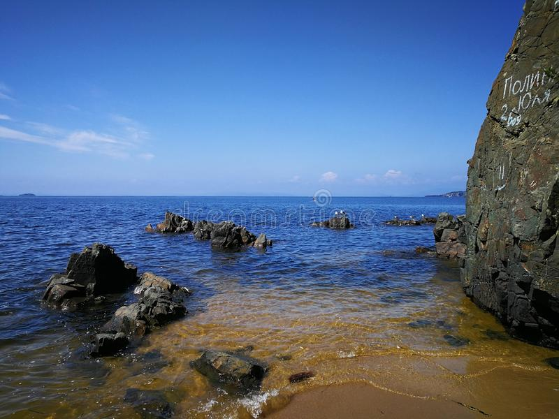 Morze i kamienie zdjęcie stock