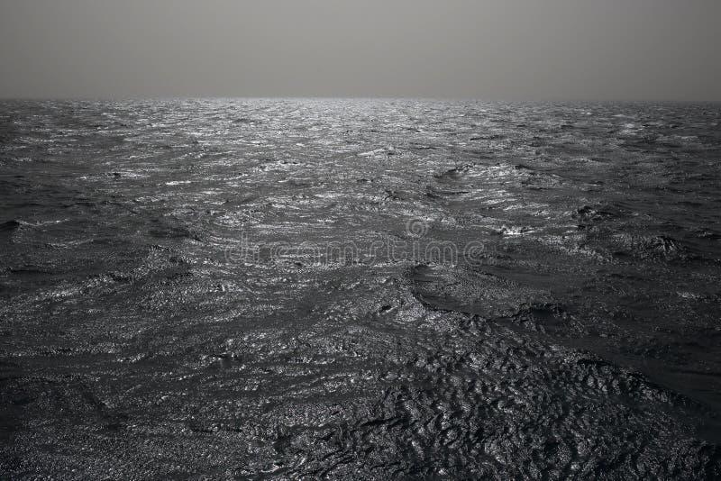 Morze i niebo z miękkim zmrokiem, możemy używać jako tło obrazy stock