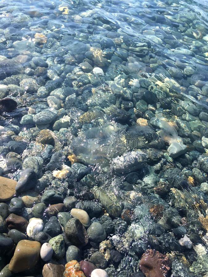 Morze kamienie w czystej wodzie morskiej kamienie pod wodą obraz royalty free
