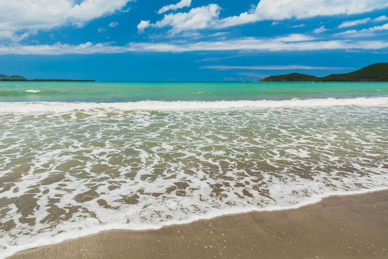 Morze Karaibskie w tropikalnym kurorcie zdjęcie royalty free