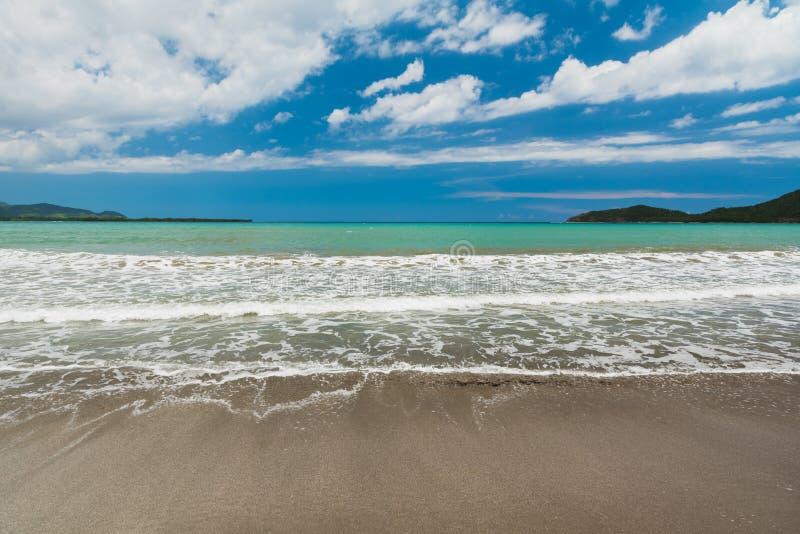 Morze Karaibskie w tropikalnym kurorcie fotografia stock