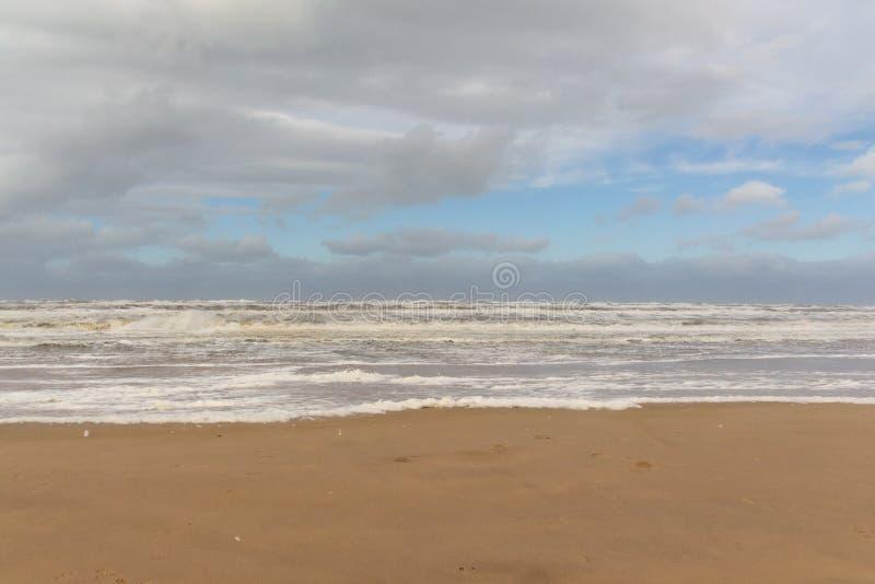 Morze macha 1 Egmond aan Zee holandie fotografia royalty free