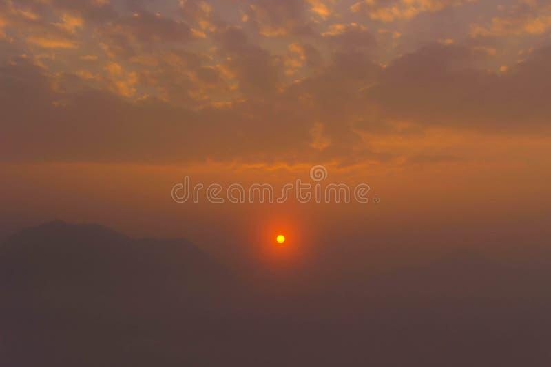 Morze mgły Chiangkan d zdjęcie royalty free