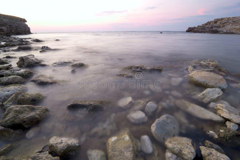 Morze naturalny delikatny krajobraz fotografia royalty free