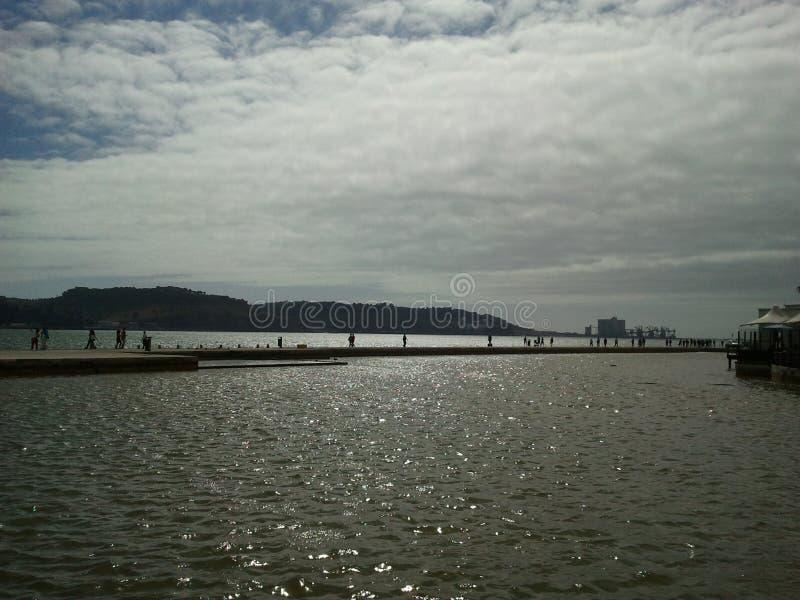Morze od Lisbon obrazy stock