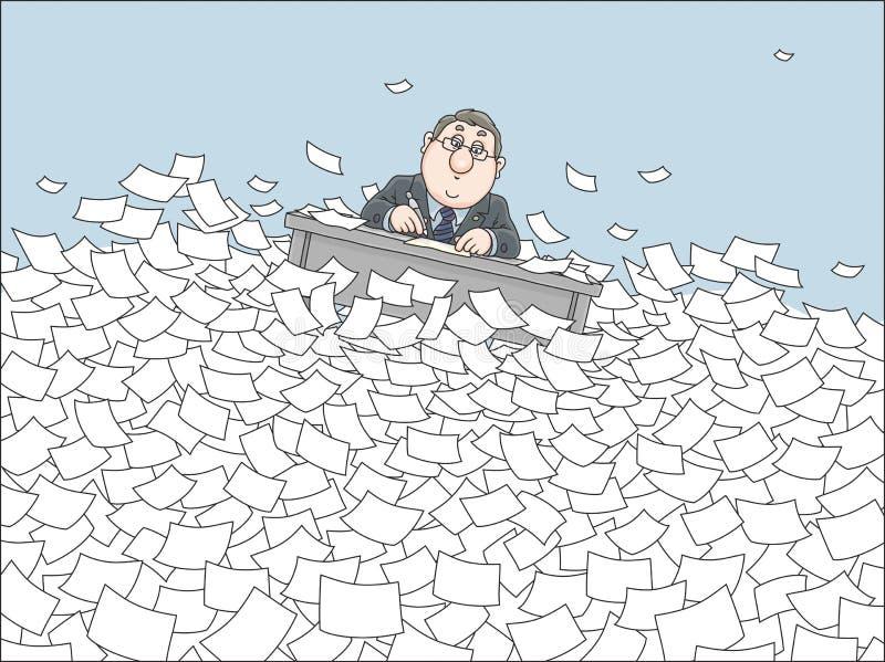 Morze papier royalty ilustracja
