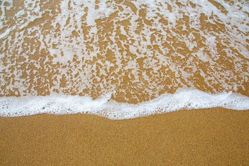 Morze piana na piasek plaży w Acadia, Maine, usa zdjęcie royalty free