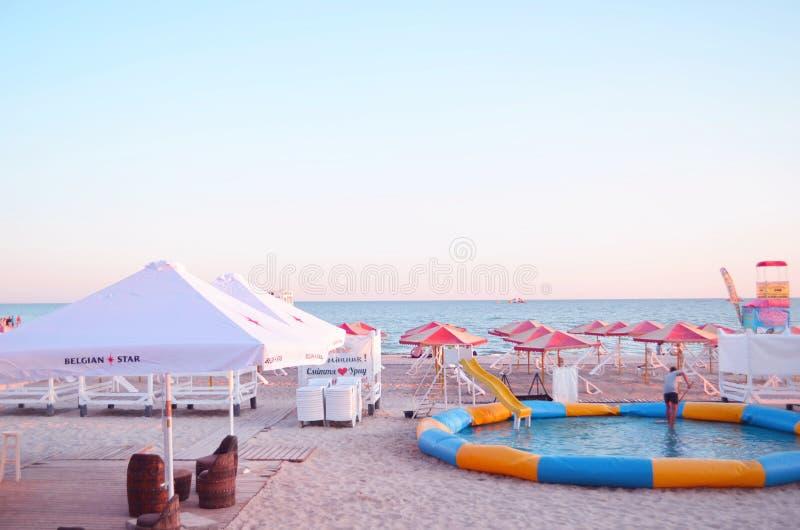 Morze pla?a w lecie obrazy royalty free