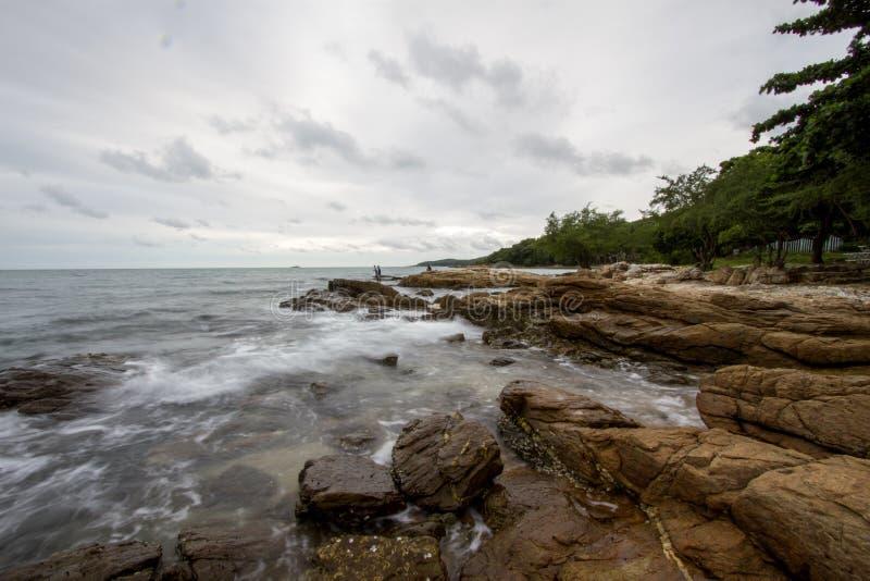 Morze przy wyspą fotografia stock