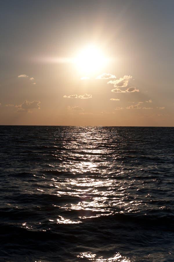 Morze Przy zmierzchem obrazy stock