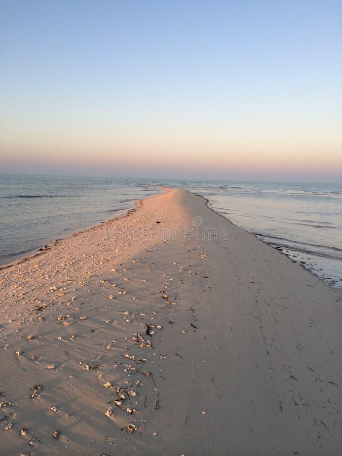 Morze, pustynia, Abudhabi, UAE, Dubaj zdjęcia royalty free