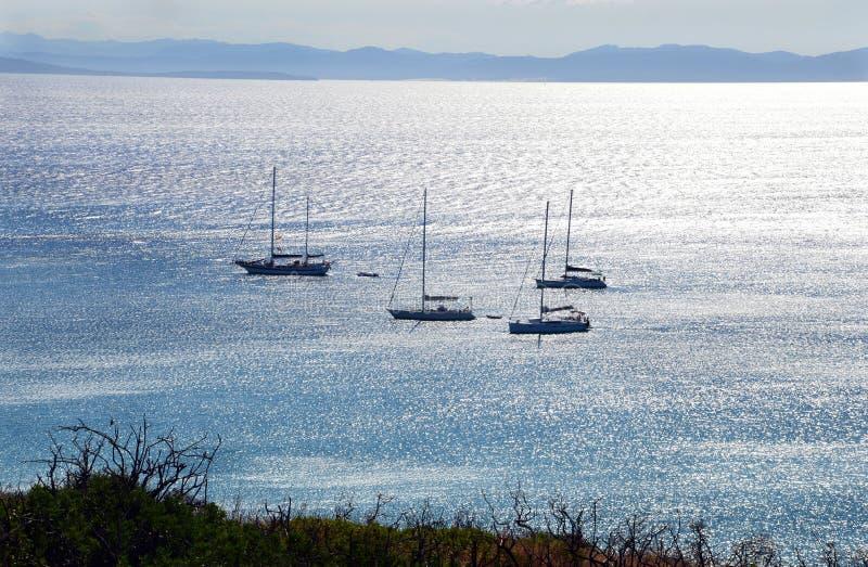 Morze Sardinia, wakacje w Włochy obraz stock