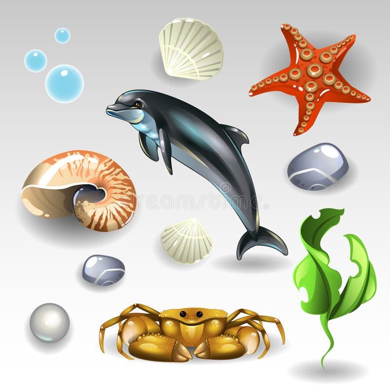 Morze set ilustracji