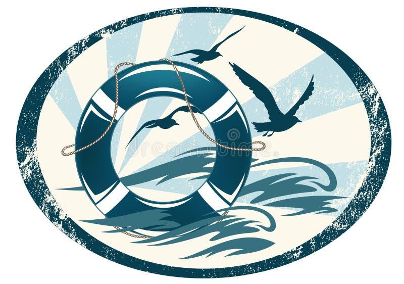 Morze strażowy emblemat royalty ilustracja