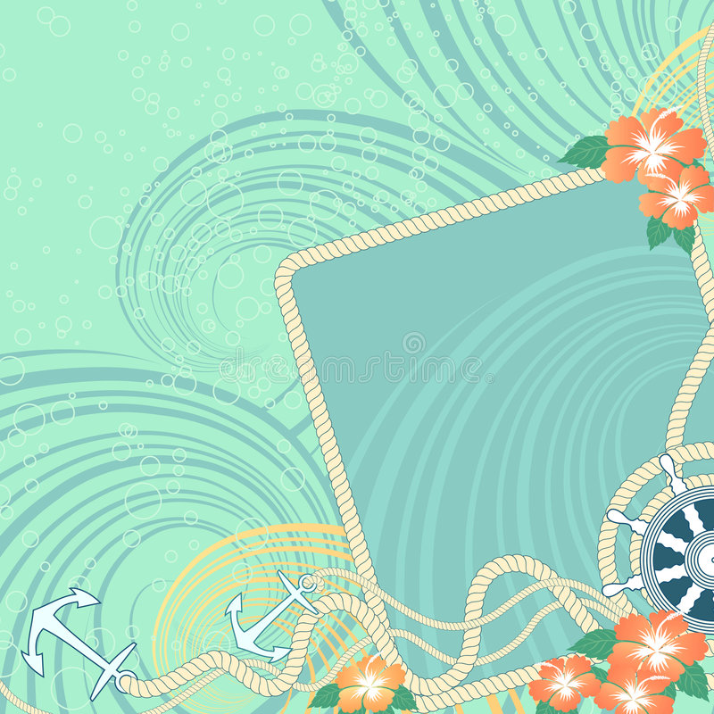 morze tła ilustracji