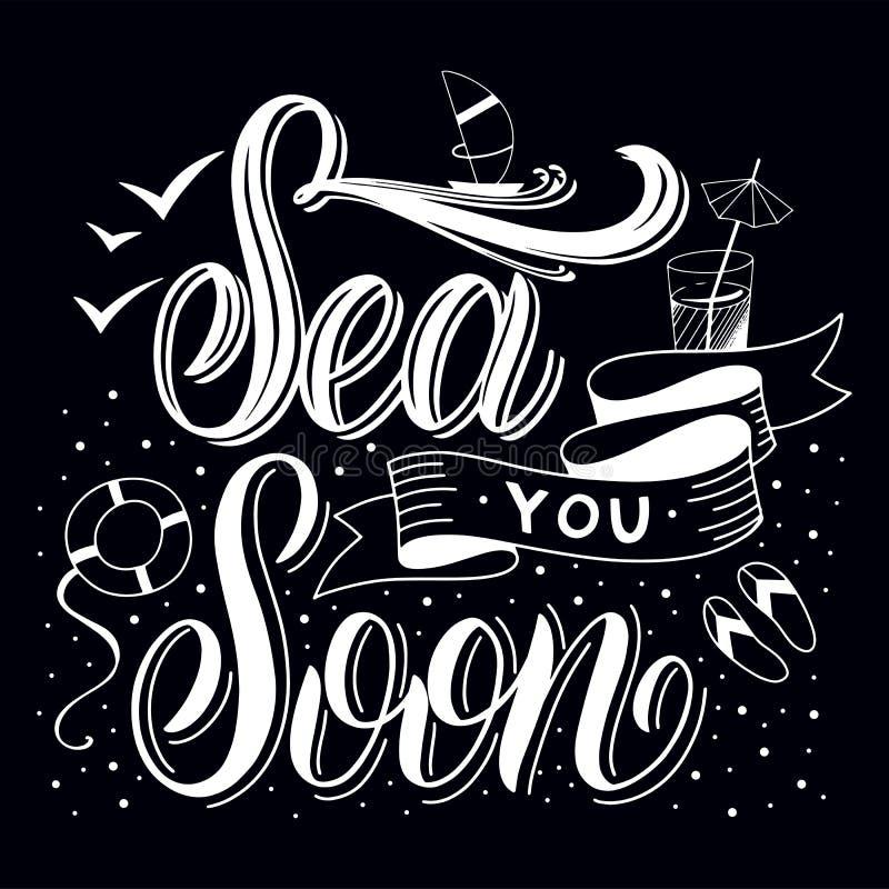 Morze ty wkrótce ilustracja wektor