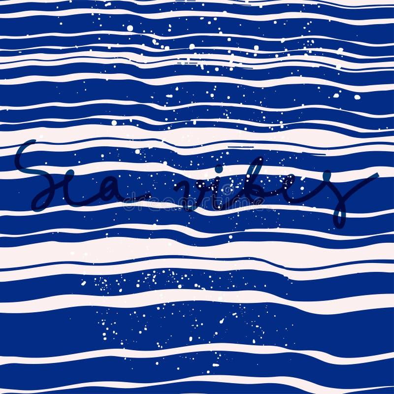 Morze z literowaniem ilustracja wektor