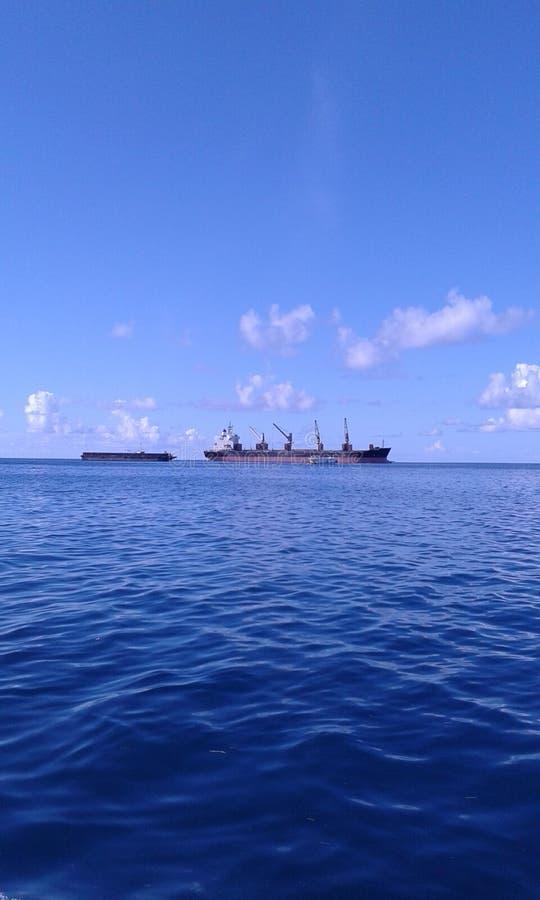 Morze z niebem lubi jeden zdjęcie stock