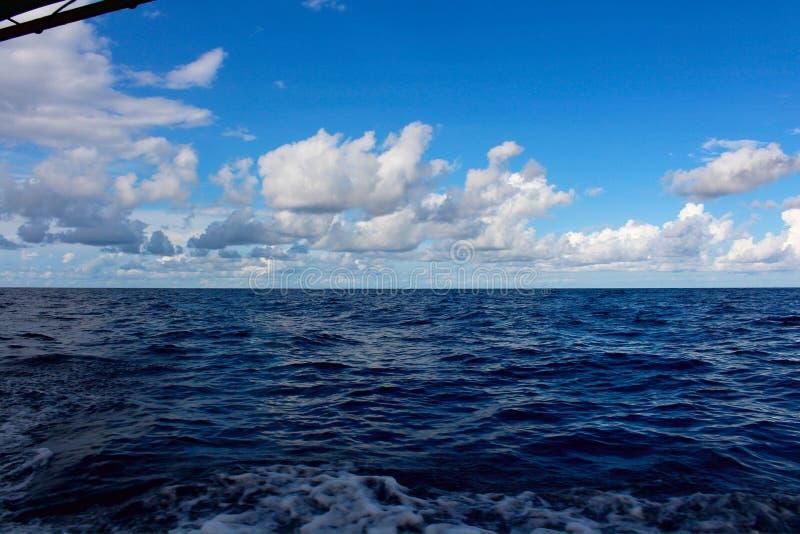 Morze z pięknym niebieskim niebem zdjęcie royalty free