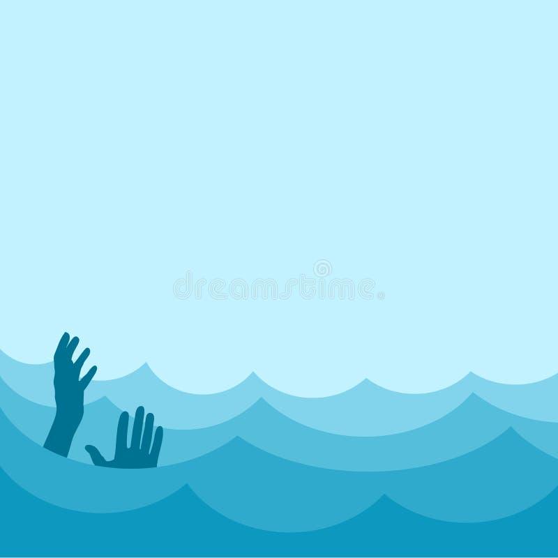 Morze z słabnięcie osobą royalty ilustracja