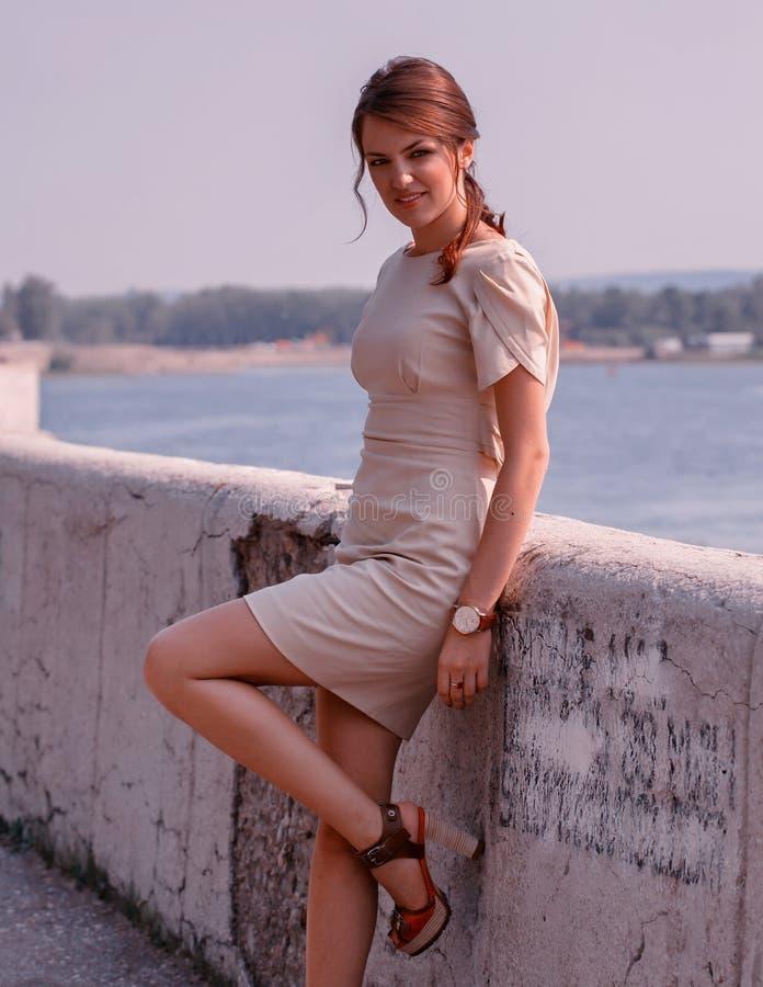 Morzem modna kobieta obrazy royalty free
