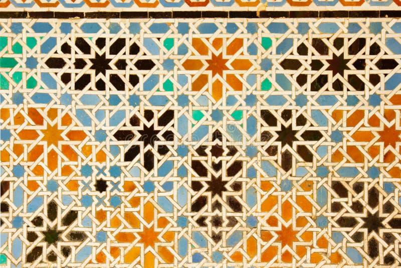 Mosaïque à l'Alcazar réel de Séville, Espagne photos libres de droits