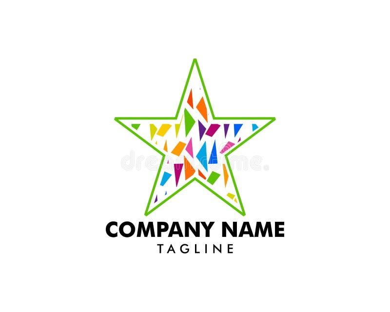 Mosaïque abstraite Logo Design Template d'étoile illustration de vecteur