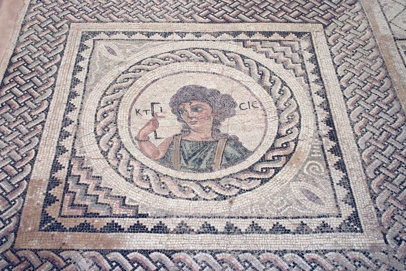 Mosaïque antique d'étage images libres de droits
