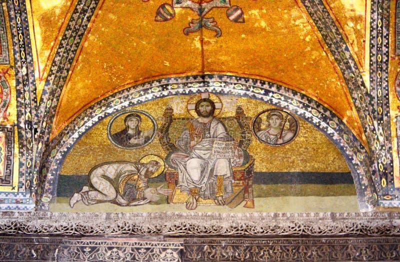 Mosaïque antique dans Hagia Sophia Hagia Sophia est le plus grand monument de la culture bizantine photos libres de droits