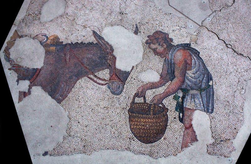 Mosaïque antique de la période bizantine photographie stock libre de droits