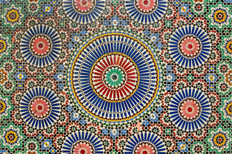 Mosaïque arabe à Marrakech photo stock