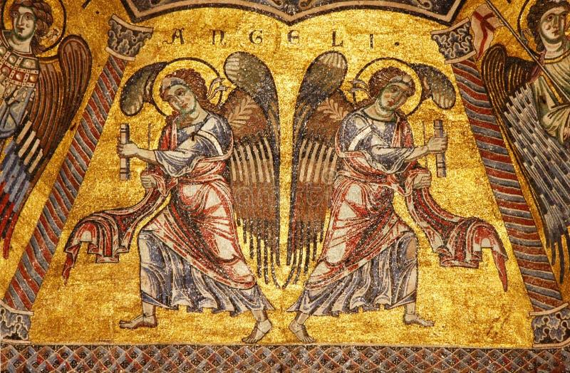 Mosaïque bizantine dans le baptistère à Florence photographie stock libre de droits