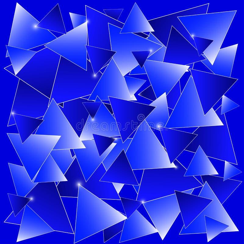 Mosaïque bleue illustration stock