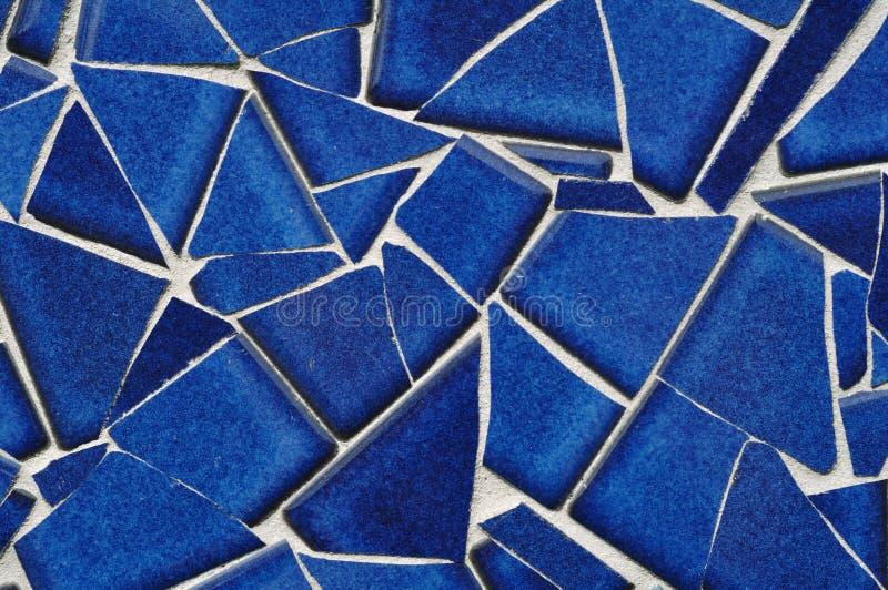 Mosaïque bleue de tuile image stock
