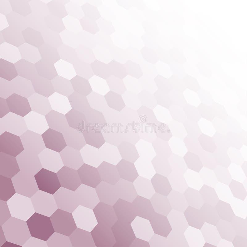 Mosaïque carrée aléatoire pourpre de bannière de vecteur, tuiles illustration stock
