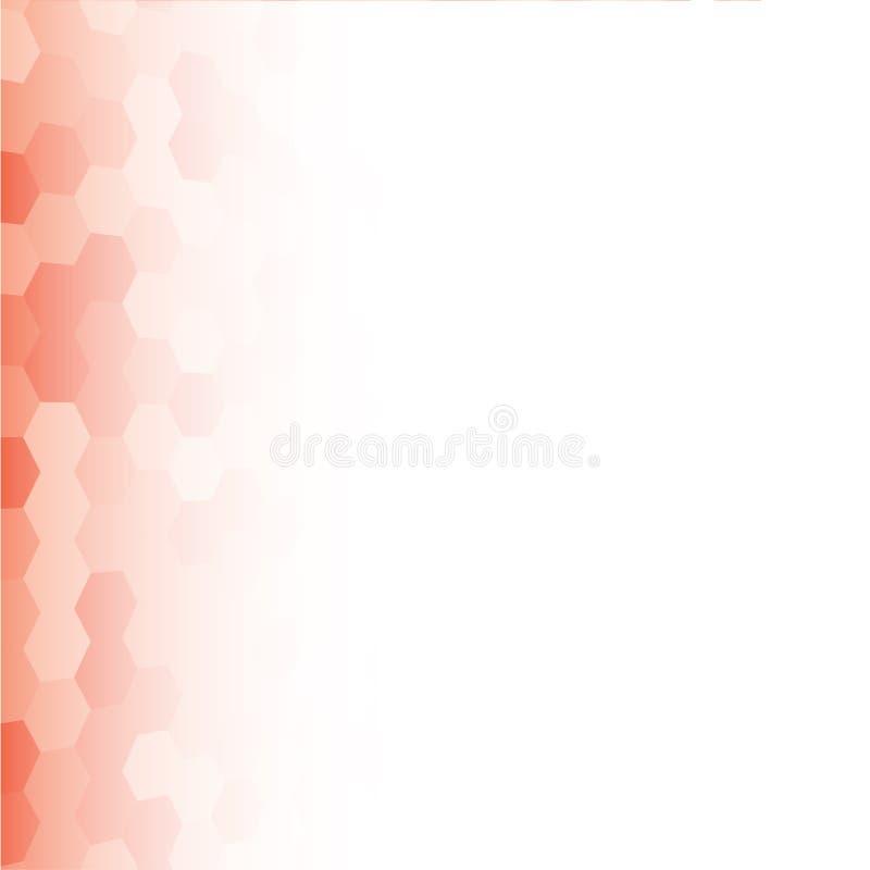 Mosaïque carrée aléatoire rouge de bannière de vecteur, tuiles illustration stock