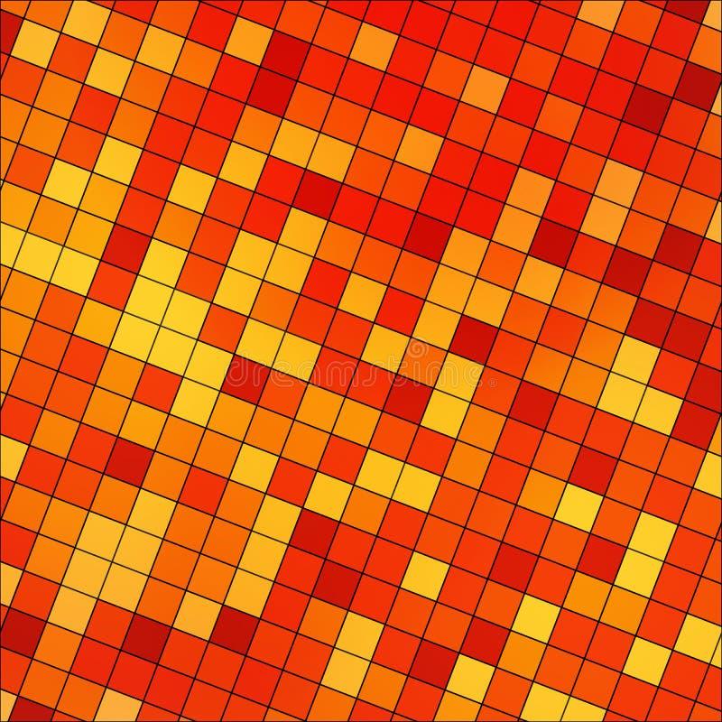 Mosaïque carrée de pixel colorée par résumé illustration libre de droits