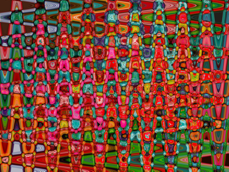 Mosaïque colorée illustration libre de droits