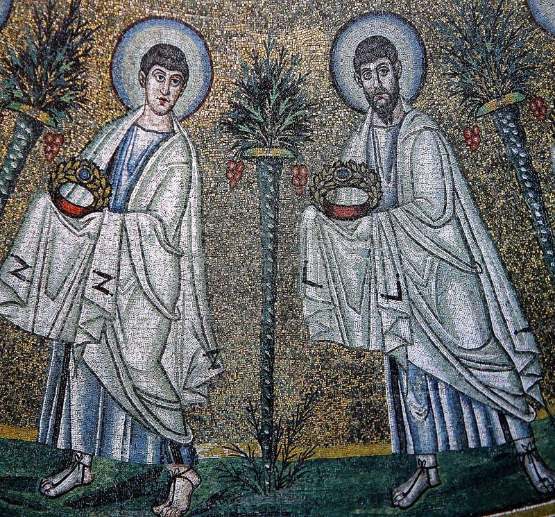 Mosaïque dans le palais des Normands, Palerme, Sicile, Italie photo libre de droits