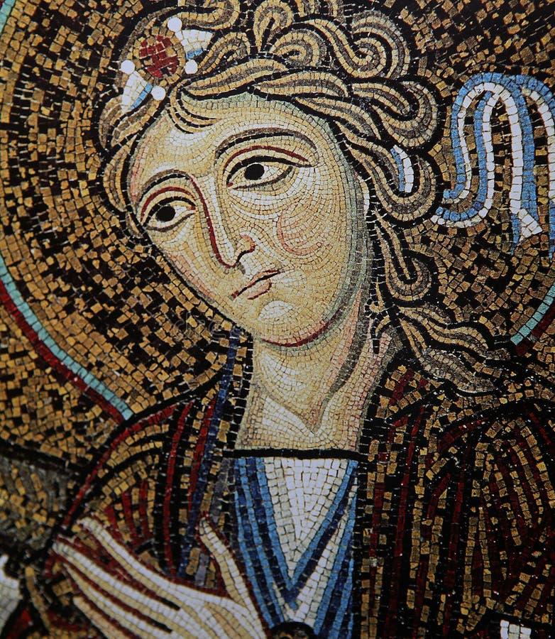 Mosaïque dans le palais des Normands, Palerme, Sicile, Italie images stock