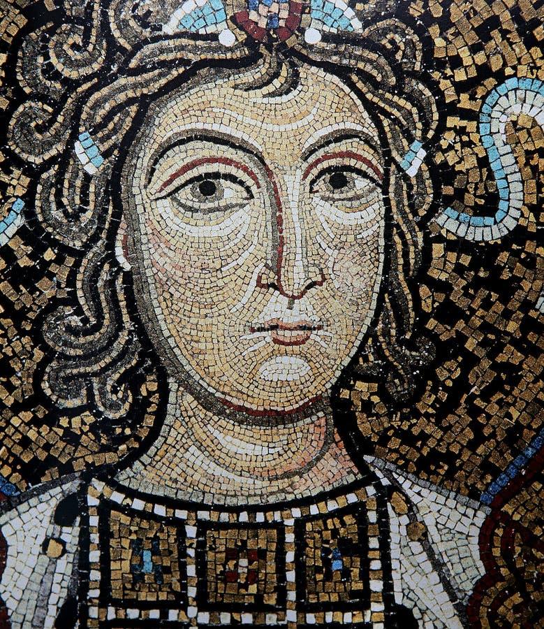 Mosaïque dans le palais des Normands, Palerme, Sicile, Italie photographie stock