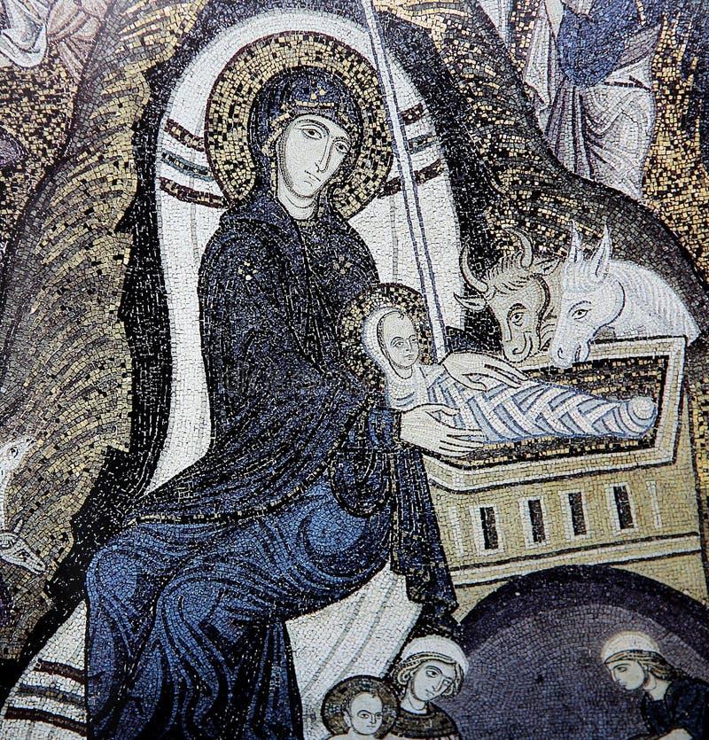 Mosaïque dans le palais des Normands, Palerme, Sicile, Italie photos libres de droits