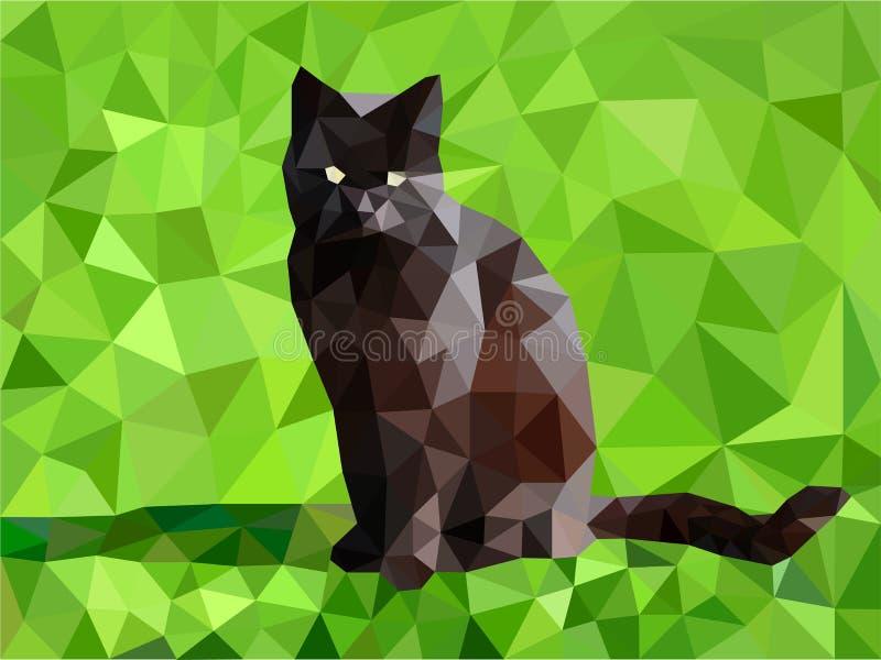 Mosaïque de chat noir illustration libre de droits
