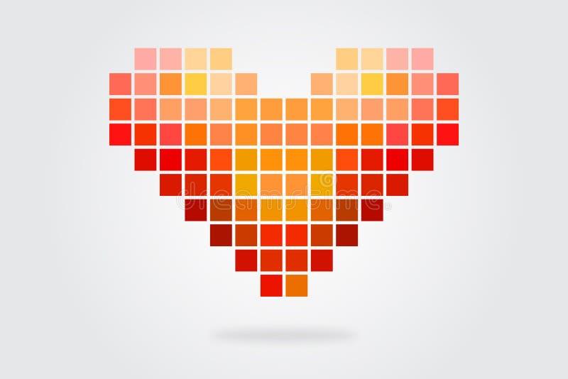 Mosaïque de coeur illustration libre de droits