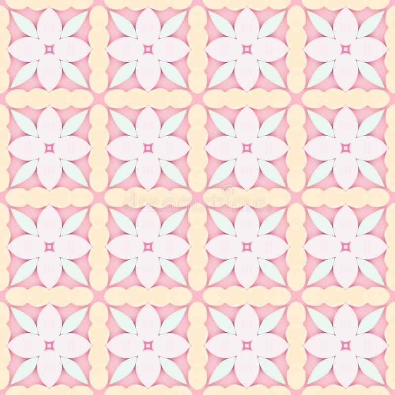 Mosaïque de fleur rose pâle fond texturé détaillé images libres de droits